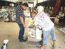 河南包子机客户来厂包子机做素馅包子试机效果